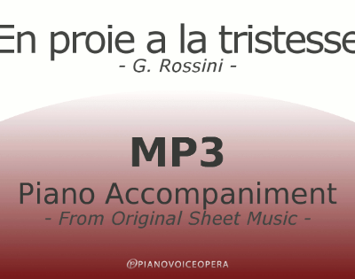 PianoVoiceOpera En proie a la tristesse Piano Accompaniment
