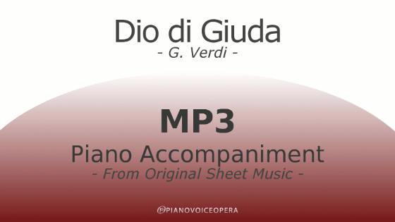 PianoVoiceOpera Dio di Giuda Piano Accompaniment