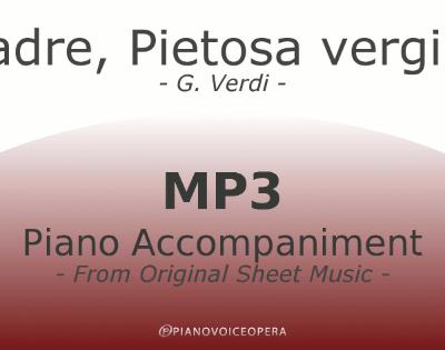 PianoVoiceOpera Madre Pietosa Vergine Piano Accompaniment