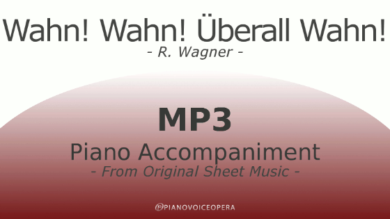 PianoVoiceOpera Wahn Wahn Uberall Wahn Piano Accompaniment