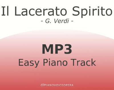 Il lacerato spirito Easy Piano Accompaniment