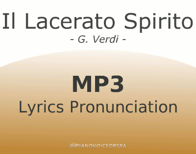 Il lacerato spirito Lyrics Pronunciation