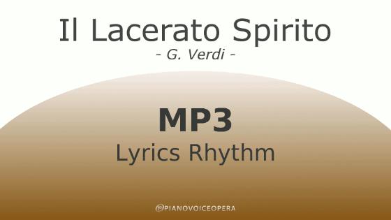 Il lacerato spirito Lyrics Rhythm