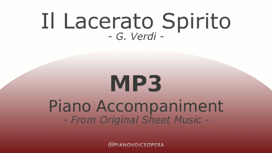 Il Lacerato Spirito Piano Accompaniment