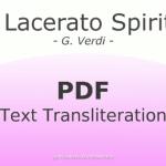 Il lacerato spirito Text Transliteration