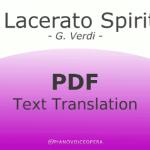 Il lacerato spirito Text Translation