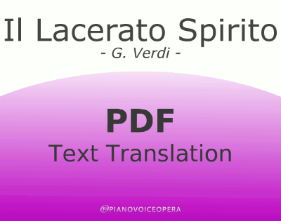 Il lacerato spirito Text Translation