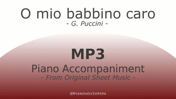 PianoVoiceOpera O mio babbino caro Mp3 Piano Accompaniment