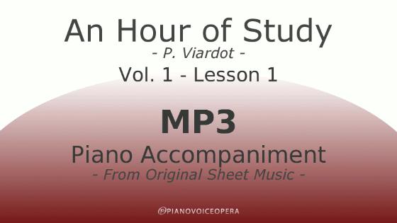 PianoVoiceOpera An Hour of Study Viardot vol. 1 lesson 1 Piano accompaniment