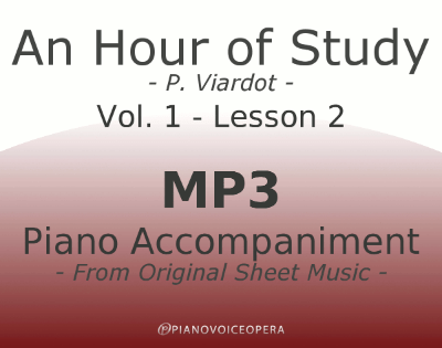PianoVoiceOpera An Hour of Study Viardot vol. 1 lesson 2 Piano accompaniment