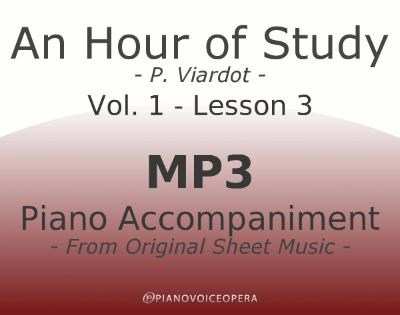PianoVoiceOpera An Hour of Study Viardot vol. 1 lesson 3 Piano accompaniment