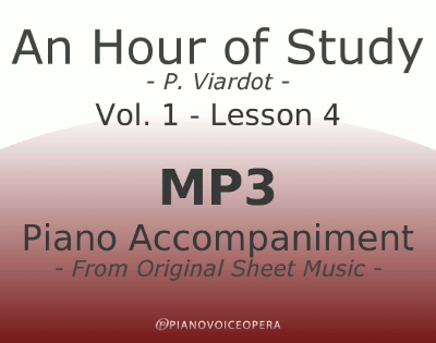 PianoVoiceOpera An Hour of Study Viardot vol. 1 lesson 4 Piano accompaniment