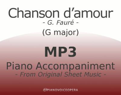 PianoVoiceOpera Chanson d'amour Piano Accompaniment (high voice)