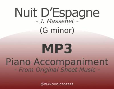 PianoVoiceOpera Nuit D'Espagne Piano Accompaniment (G-)