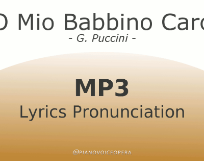 O mio babbino caro lyrics pronunciation