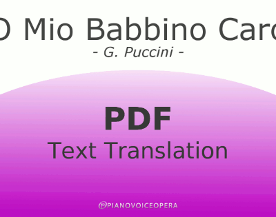 O Mio Babbino Caro Text Translation