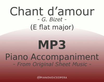 PianoVoiceOpera Chant d'amour Piano Accompaniment