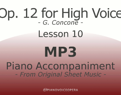 Concone Op 12 High Voice Piano Accompaniment Lesson 10