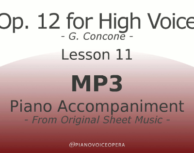Concone Op 12 High Voice Piano Accompaniment Lesson 11