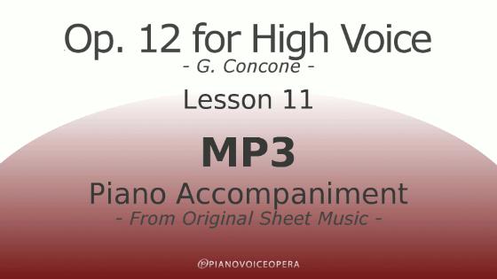 Concone Op 12 High Voice Piano Accompaniment Lesson 11