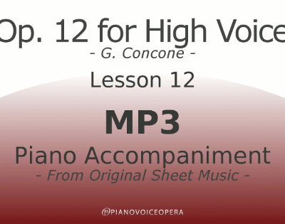Concone Op 12 High Voice Piano Accompaniment Lesson 12