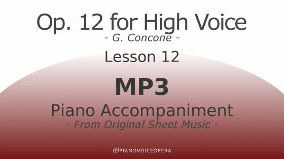 Concone Op 12 High Voice Piano Accompaniment Lesson 12