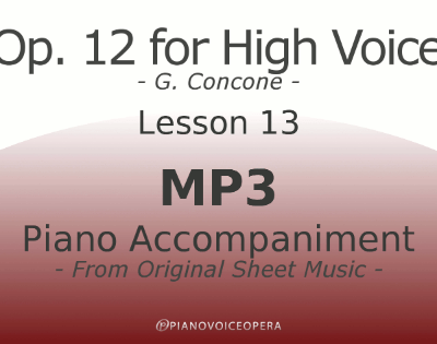 Concone Op 12 High Voice Piano Accompaniment Lesson 13
