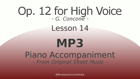 Concone Op 12 High Voice Piano Accompaniment Lesson 14