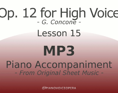Concone Op 12 High Voice Piano Accompaniment Lesson 15