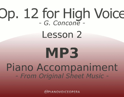 Concone Op 12 High Voice Piano Accompaniment Lesson 2