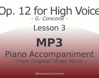 Concone Op 12 High Voice Piano Accompaniment Lesson 3