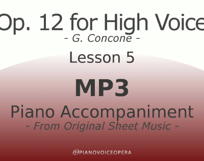 Concone Op 12 High Voice Piano Accompaniment Lesson 5
