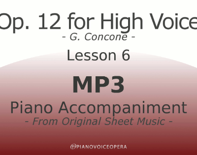 Concone Op 12 High Voice Piano Accompaniment Lesson 6