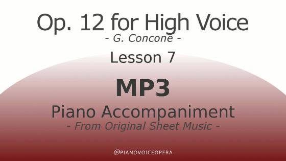 Concone Op 12 High Voice Piano Accompaniment Lesson 7