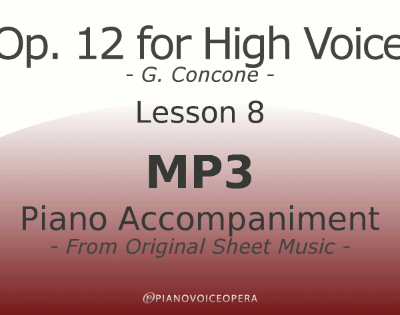 Concone Op 12 High Voice Piano Accompaniment Lesson 8