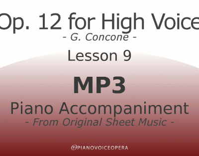 Concone Op 12 High Voice Piano Accompaniment Lesson 9