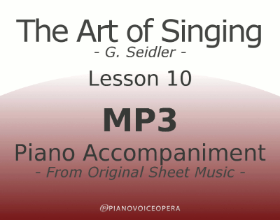 Seidler, The Art of Singing Piano Accompaniment Lesson 10