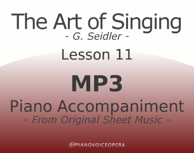 Seidler, The Art of Singing Piano Accompaniment Lesson 11