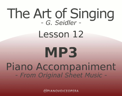 Seidler, The Art of Singing Piano Accompaniment Lesson 12