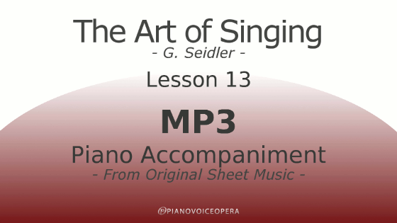 Seidler, The Art of Singing Piano Accompaniment Lesson 13