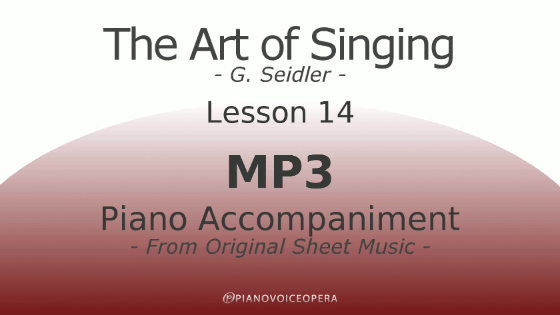 Seidler, The Art of Singing Piano Accompaniment Lesson 14