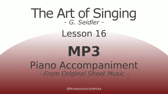 Seidler, The Art of Singing Piano Accompaniment Lesson 16