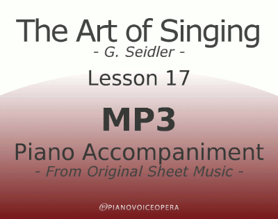 Seidler, The Art of Singing Piano Accompaniment Lesson 17
