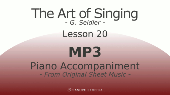 Seidler, The Art of Singing Piano Accompaniment Lesson 20