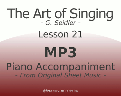 Seidler, The Art of Singing Piano Accompaniment Lesson 21
