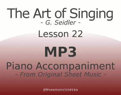 Seidler, The Art of Singing Piano Accompaniment Lesson 22