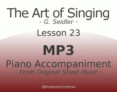 Seidler, The Art of Singing Piano Accompaniment Lesson 23