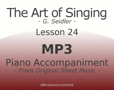 Seidler, The Art of Singing Piano Accompaniment Lesson 24