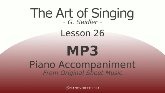 Seidler, The Art of Singing Piano Accompaniment Lesson 26