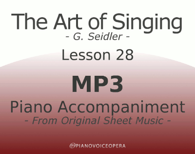 Seidler, The Art of Singing Piano Accompaniment Lesson 28